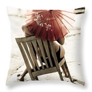 Vision Of A Simple Life Throw Pillow