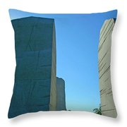 Visiting Marin Luther King Throw Pillow