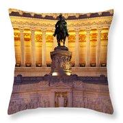 Vittorio Emanuele - Rome Throw Pillow