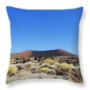 Volcanic Landscape Throw Pillow