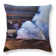 Volcano Crater Big Island Hawaii  Throw Pillow