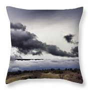 Volcano Vog Big Island Hawaii V2 Throw Pillow