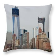 1 W T C And Lower Manhattan Throw Pillow