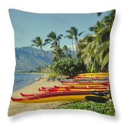 Kenolio Beach Sugar Beach Kihei Maui Hawaii  Throw Pillow
