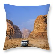 Wadi Rum In Jordan Throw Pillow by Robert Preston