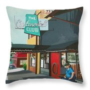 Waiting For Stevie Ray Throw Pillow