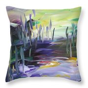 Walking Through Throw Pillow