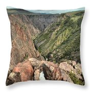 Walls Of The Black Canyon Throw Pillow