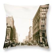 Walnut Street - Kansas City 1906 Throw Pillow