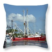 Wanchese Harbor Throw Pillow