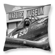 Warbird Museum Throw Pillow