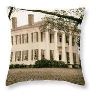 Warren Stone House In Alabama Throw Pillow