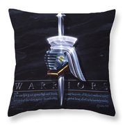 Warriors Throw Pillow by Cliff Hawley