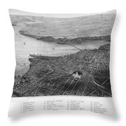 Washington, D.c., 1862 Throw Pillow