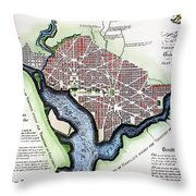 Washington, Dc, Plan, 1792 Throw Pillow