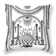 Washington Masonic Apron Throw Pillow