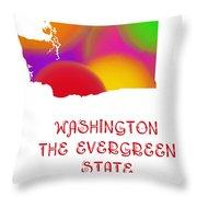 Washington State Map Collection 2 Throw Pillow
