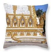 Wat Nong Bua East Side Of Main Stupa Base Dthu449 Throw Pillow