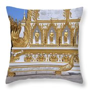Wat Nong Bua West Side Of Main Stupa Base Dthu447 Throw Pillow