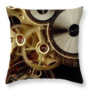 Watch Mechanism. Close-up Throw Pillow