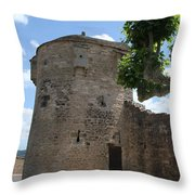Watch Tower In Cluny Throw Pillow
