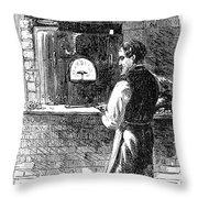 Watchmaker, 1869 Throw Pillow