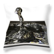 Water Droplet Throw Pillow