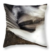 Water Flow Throw Pillow