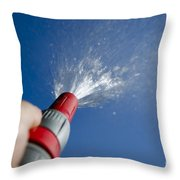 Water Hose Throw Pillow