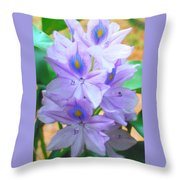 Water Hyacinth Throw Pillow