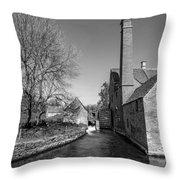 Water Mill Throw Pillow
