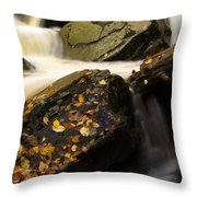 Water Over Rocks Throw Pillow