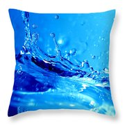 Water Splash Throw Pillow