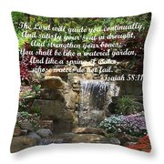 Watered Garden Throw Pillow