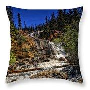 Waterfall In Jasper 1 Throw Pillow