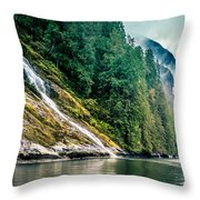 Waterfall Jervis Inlet Throw Pillow