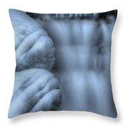 Waterfall Near Johnston Canyon Alberta Throw Pillow