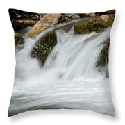 Waterfall - Zion National Park Throw Pillow