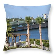 Waterfront Park St Augustine Florida Throw Pillow