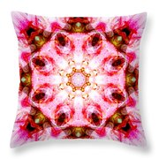 Lily Mandala Throw Pillow