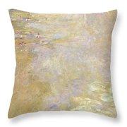 Waterlily Pond Throw Pillow