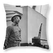 Watts Bar Dam, 1942 Throw Pillow