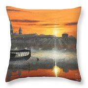 Wawel Sunrise Krakow Throw Pillow