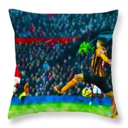 Wayne Rooney Of Manchester United Scores Their Second Goal Throw Pillow