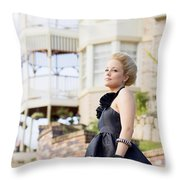Wealthy Woman Throw Pillow