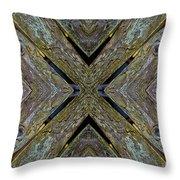 Weathered Wood Tiled IIi Throw Pillow