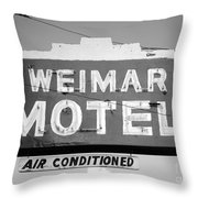Weimar Motel Sign Throw Pillow