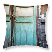 Welcome Home In Beijing Throw Pillow by Glennis Siverson