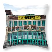 Welcome To The Asbury Park Boardwalk Throw Pillow