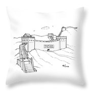 Welcome To The United States Throw Pillow
